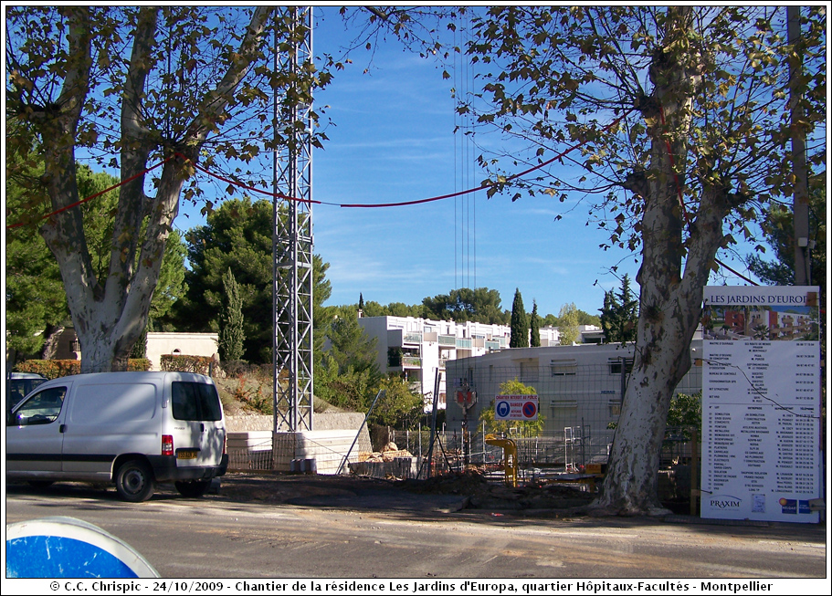 Chantier de la r sidence les jardins d 39 europa chrispics - Residence les jardins de l aqueduc montpellier ...